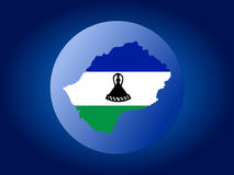 Lesotho globe illustration Royalty Free Stock Photography