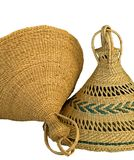Lesotho Hats 2. Two typical traditional Lesotho hats Royalty Free Stock Photos