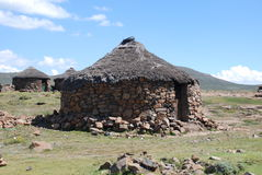 Lesotho hut. A local hut in Lesotho on the high plateau in almost 3000m near Sani Top Stock Photo
