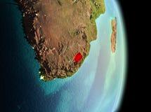 Lesotho i morgon från omlopp Arkivfoton