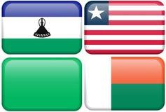 Lesotho, Liberia, Líbia, Madagascar Fotografia de Stock Royalty Free