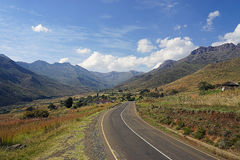 Lesotho Mountian street. An Mountian-Street in Lesotho Stock Photography