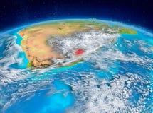 Lesotho på jord Royaltyfri Fotografi