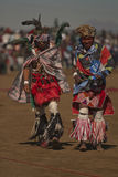 Lesotho people. People dressed in traditional costumes at the  celebration of H.R.H King Letsie's birthday in Lesotho Stock Photo