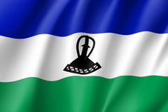 Lesotho realistic flag Royalty Free Stock Images