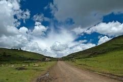 Lesotho-Straßen 12 das saddleneck Stockfoto