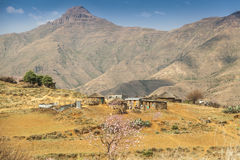 Lesotho traditional house - Basotho huts Royalty Free Stock Photo