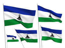 Lesotho vector flags Royalty Free Stock Images