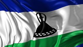 Lesoto bandery royalty ilustracja