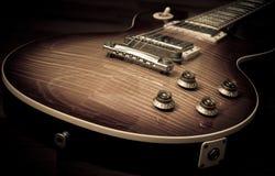 Lespaul elektrisk gitarr Arkivbild