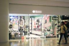 Lesportsac shoppar i Hong Kong Arkivfoto