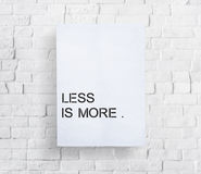 Free Less Is More Minimal Simplicity Easiness Plainness Concept Royalty Free Stock Images - 70785589