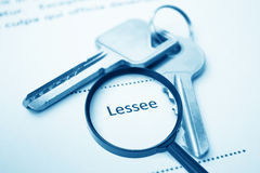 Lessee Signing Contract Royalty Free Stock Images