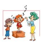 Lessen van liederen stock illustratie