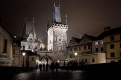 Lesser Bridge Tower of Charles Bridge in Prague (Karluv Most) th Royalty Free Stock Photography