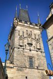 Lesser Bridge Tower, Praga, repubblica Ceca immagine stock