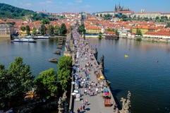 Lesser Grodzki most Góruje - Praga republika czech Zdjęcia Stock