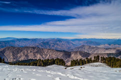 The Lesser Himayalays. A view of garhwal region of lesser himalayas mountain range Royalty Free Stock Photos
