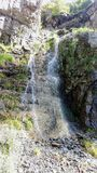 Lost Creek Falls Spring. Cascading down the rocks Royalty Free Stock Images