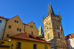 Lesser Town Bridge Tower on Charles Bridge Stock Photography