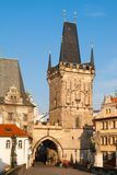 Lesser Town Bridge Tower with entrance gate to Charles Bridge, Prague, Czech Republic Stock Images