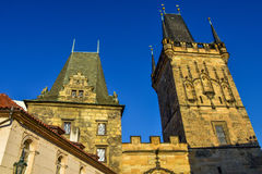 Lesser Town Bridge Towers on Charles Bridge Stock Photography