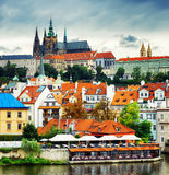 Lesser Town and Castle District (Hradcany) in Prague Royalty Free Stock Photo