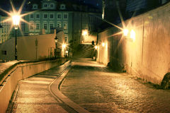Lesser Town at night Royalty Free Stock Images