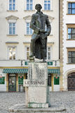 Lessing monument on the Judenplatz square in Vienna, Austria Stock Photography