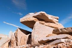 Lessinia Stone - Quarry in Veneto Italy Royalty Free Stock Photography