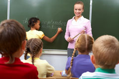 During lesson Royalty Free Stock Image