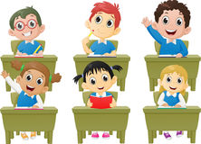 Lesson activities school children in classroom Stock Images