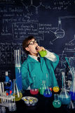 The lesson of chemistry Stock Photo