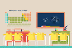 Lesson of chemistry at school classroom Stock Photography