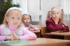 Lesson in elementary school. stock photo