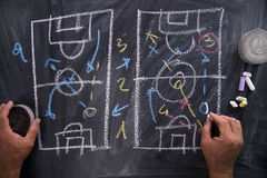 Lesson of football tactics Stock Photography