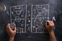 Lesson of football tactics Stock Images