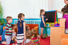 Lesson at kindergarten Royalty Free Stock Photography