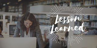 Lesson Learned Educate Learn Knowledge Education Learning Concep. T Stock Photo