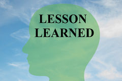 Lesson Learned mental concept Royalty Free Stock Photography
