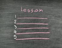 Lesson list Stock Images