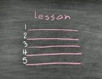 Lesson list Stock Images