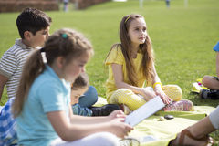 Lesson outdoors Stock Image