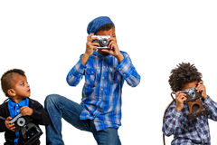 Lesson of photographs for children. Royalty Free Stock Photos