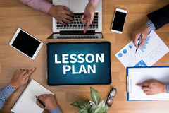 LESSON PLAN Royalty Free Stock Images