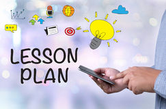 LESSON PLAN Stock Photo