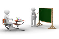 Lesson at school. Isolated 3D image Royalty Free Stock Photo