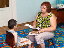 Lesson speech therapist Stock Image