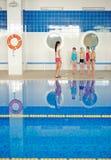Lesson of swim Royalty Free Stock Photos