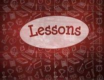 Lessons against desk Stock Photo